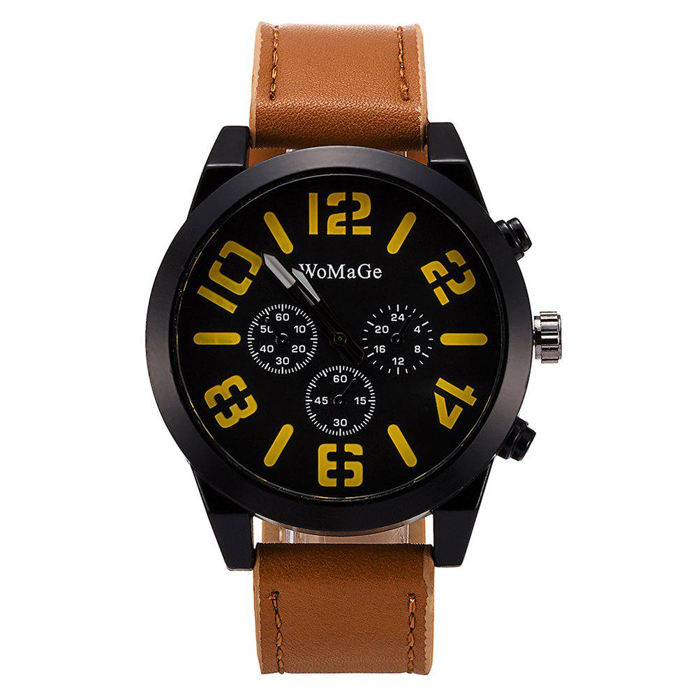 Discount WoMaGe/WMG066Men Watches 2018 Casual Leather Big Face Popular Wristwatches