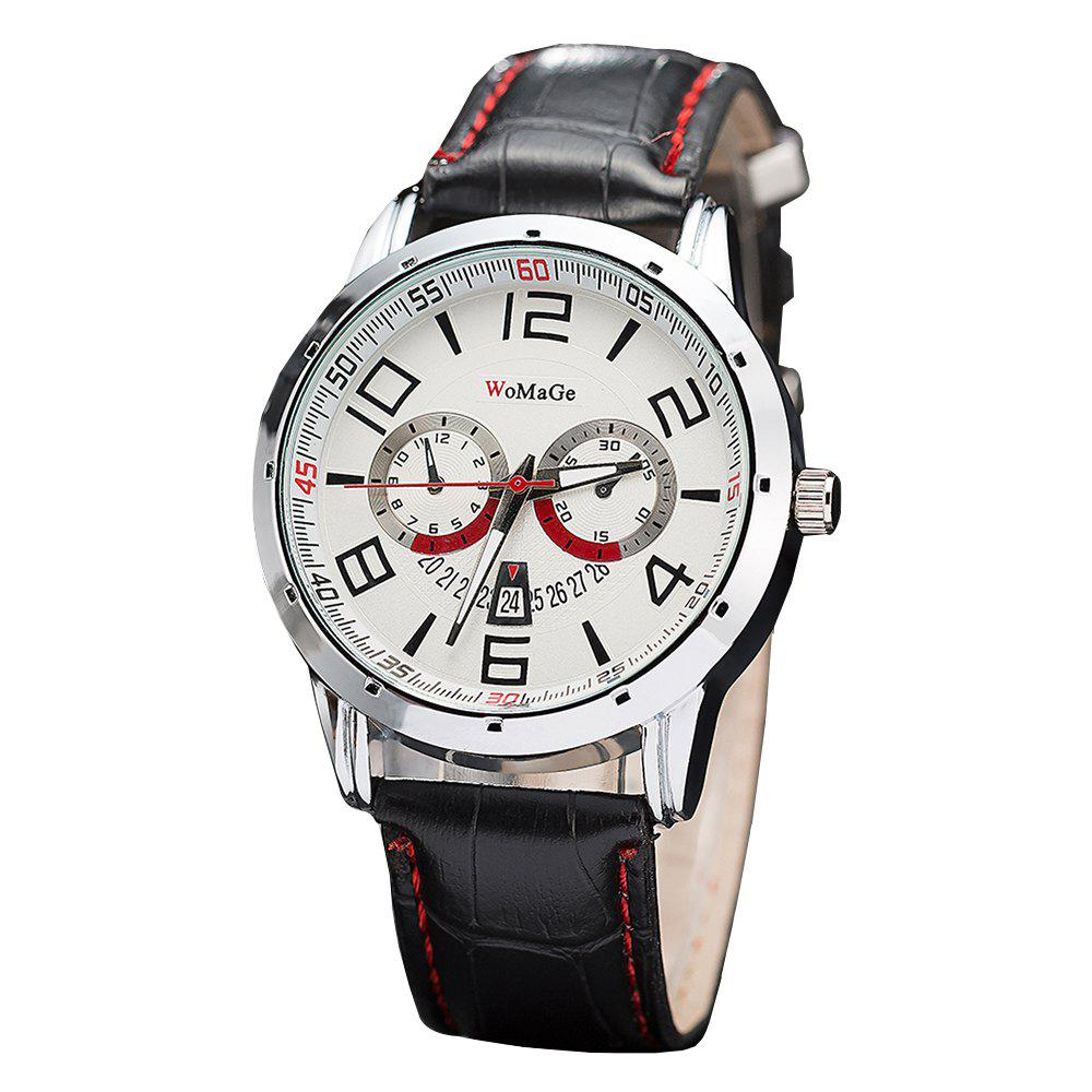 Affordable WoMaGe/WMG067/High Quality Men'S Leather Casual Watches 2018 New Wristwatches