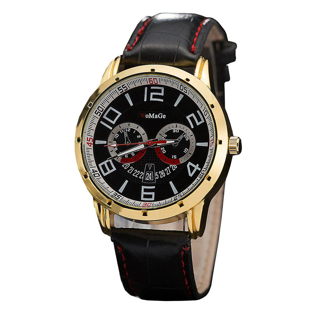 Fancy WoMaGe/WMG067/High Quality Men'S Leather Casual Watches 2018 New Wristwatches