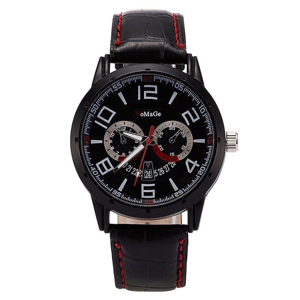 Cheap WoMaGe/WMG067/High Quality Men'S Leather Casual Watches 2018 New Wristwatches