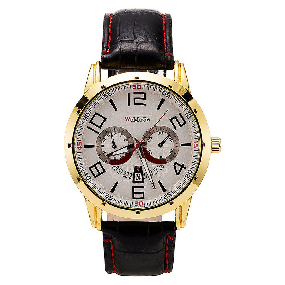 Buy WoMaGe/WMG067/High Quality Men'S Leather Casual Watches 2018 New Wristwatches