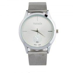 New Fashion Men and Women Net with Business Scale Quartz Watch -