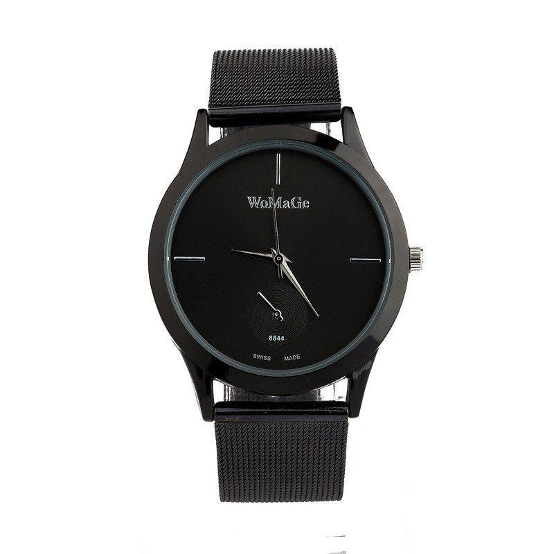 Trendy New Fashion Men and Women Net with Business Scale Quartz Watch
