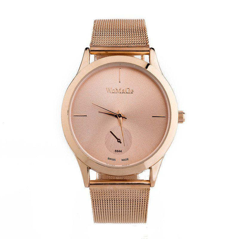 Latest New Fashion Men and Women Net with Business Scale Quartz Watch