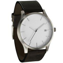 New Fashions Men Large Dial Leisure with Calendar Quartz Watch -