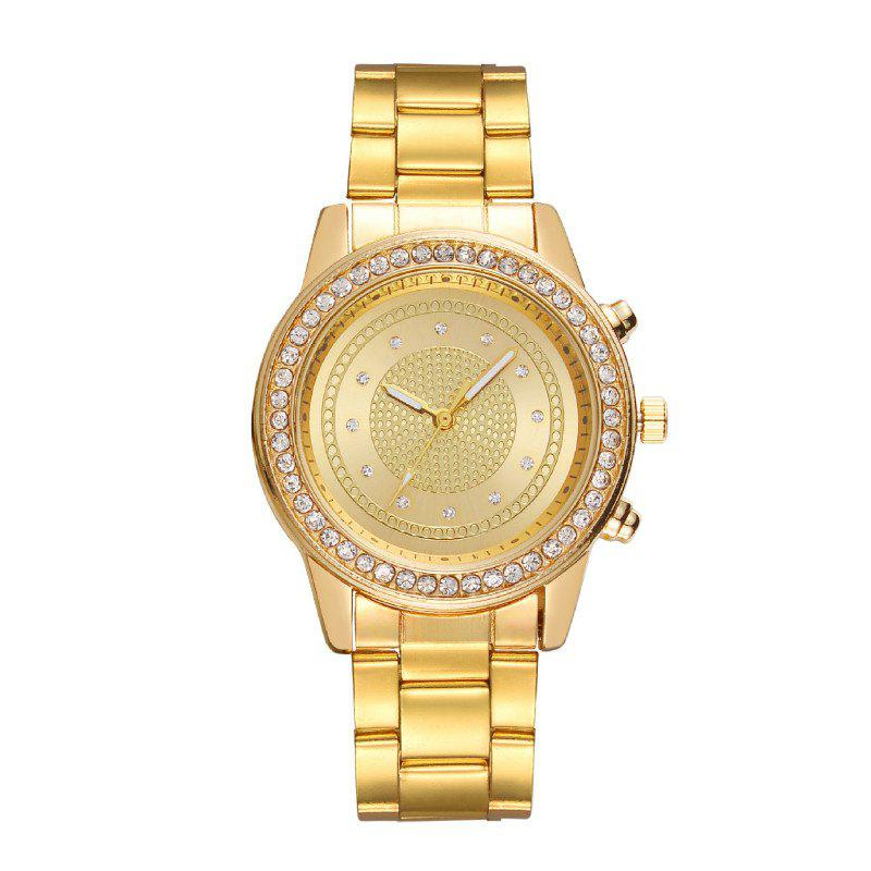 Best Fashionable Lady Diamond Drill Dial Business Belt Simple Quartz Watch