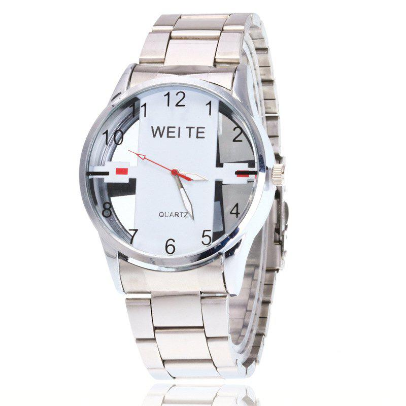 Store New Fashion Men Business Steel Belt Leisure Hollowing Sport Quartz Watch