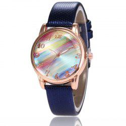 New Fashion Lady Candy Strap Simple Rainbow Dial Casual Quartz Watch -