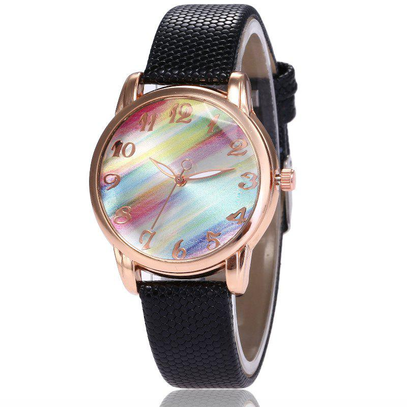 Outfit New Fashion Lady Candy Strap Simple Rainbow Dial Casual Quartz Watch