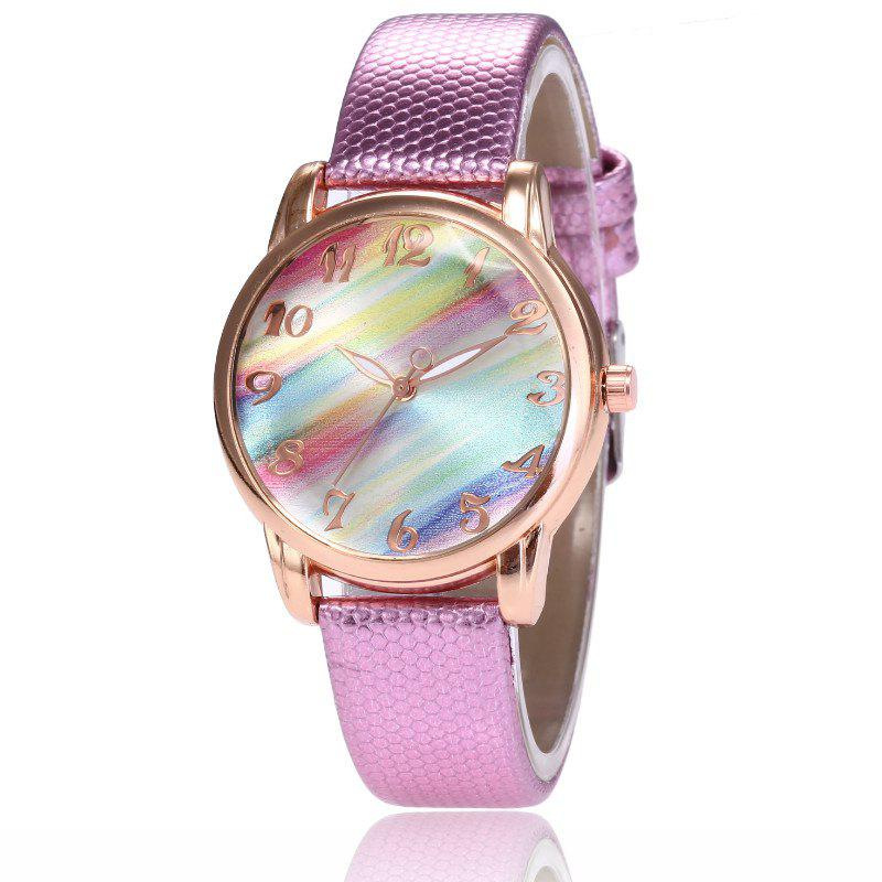Hot New Fashion Lady Candy Strap Simple Rainbow Dial Casual Quartz Watch