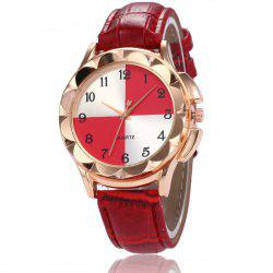 New Fashion Lady Candy Color Simple Color Dial Casual Quartz Watch -
