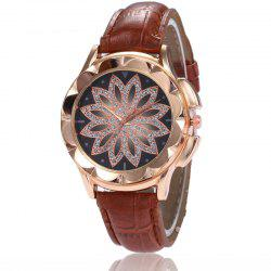 New Fashion Lady Candy Color Simple Flowers Dial Casual Quartz Watch -