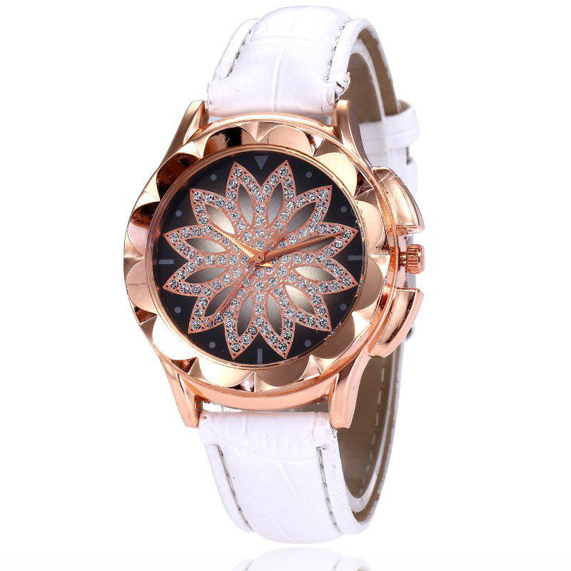Fashion New Fashion Lady Candy Color Simple Flowers Dial Casual Quartz Watch