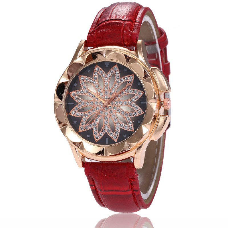 Online New Fashion Lady Candy Color Simple Flowers Dial Casual Quartz Watch