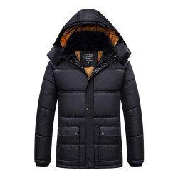 Middle-Aged Men's Plus Velvet Padded Cotton Jacket -