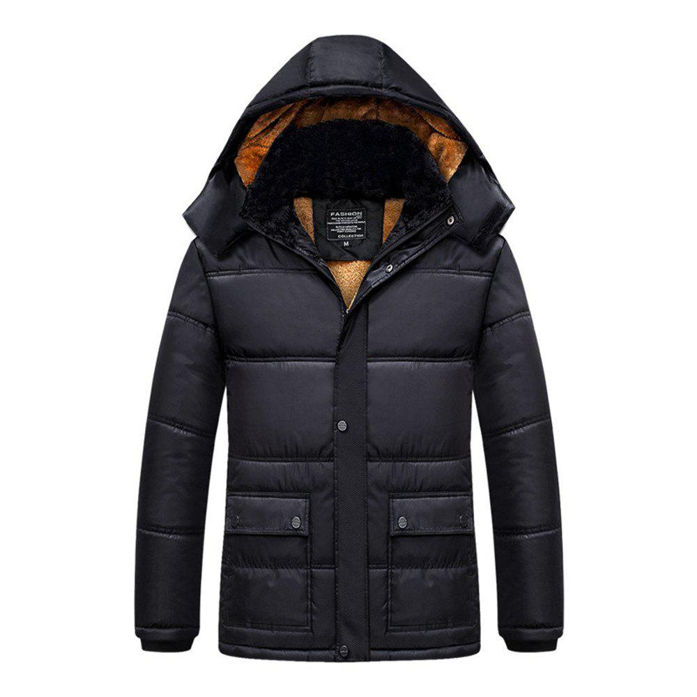 Best Middle-Aged Men's Plus Velvet Padded Cotton Jacket