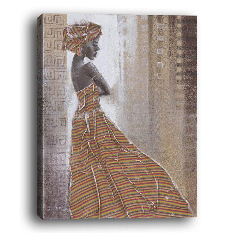 Hot Modern Living Room Background Wall Abstract African Beauty Decorative Painting