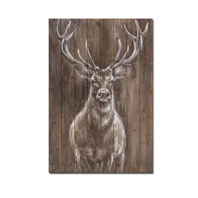 Современная гостиная отеля Porch Background Wall Animal Decoration Painting Deer