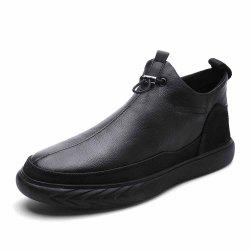 Leather Men'S Flat Bottomed Shoes -