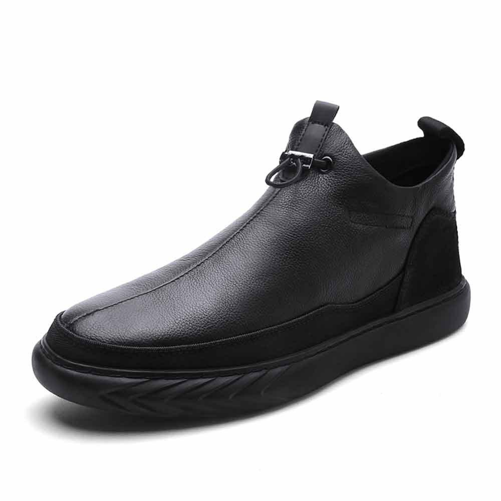 Outfit Leather Men'S Flat Bottomed Shoes