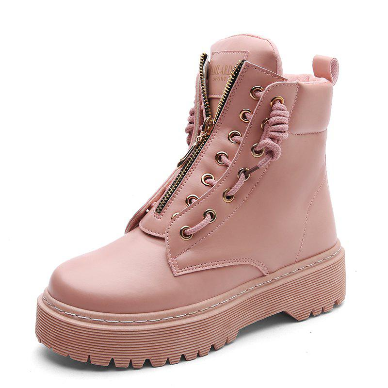 Chic Winter Fashion Tide Comfortable Thick High Shoes Martin Boots