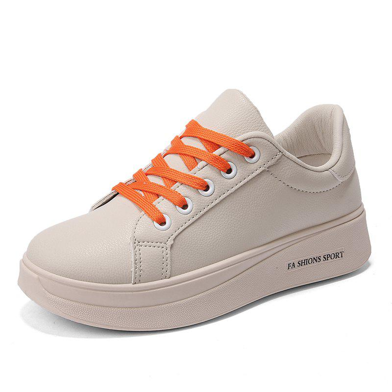 Fancy Student Autumn and Winter Small White Platform Sports Shoes