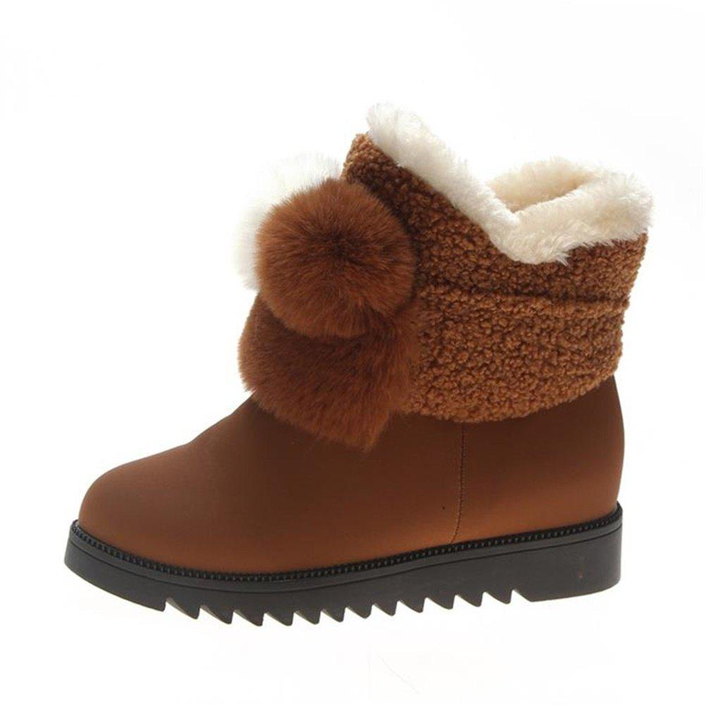 Hot Lovely Hair Ball Thick Bottom Warm Snow Boots