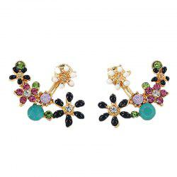 Sweet Flower with Diamond Earrings -