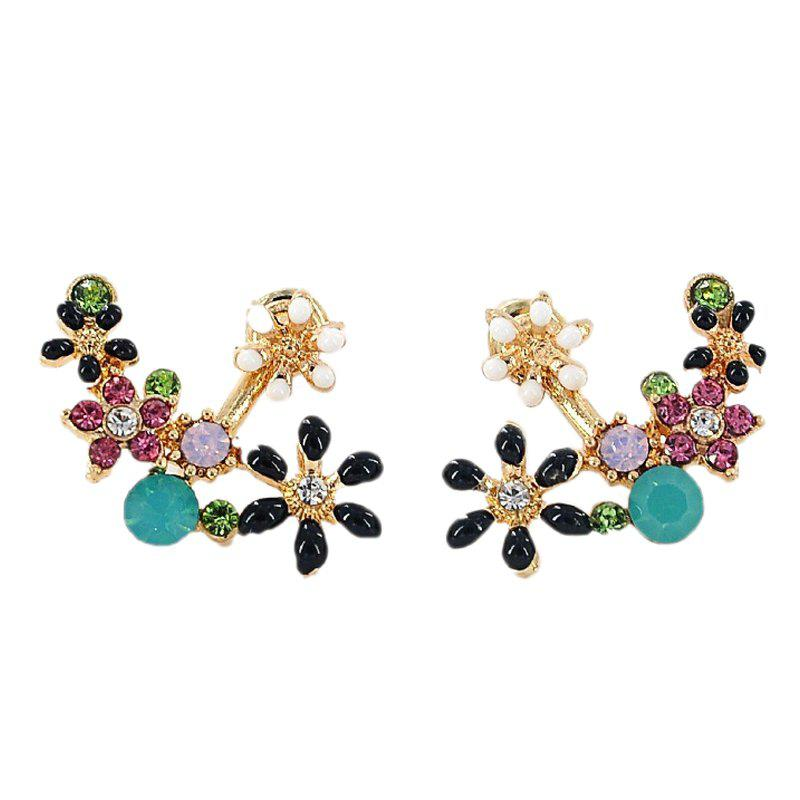 Online Sweet Flower with Diamond Earrings