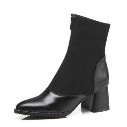 Pointed and Thick High Heeled Fashion Short Boots -