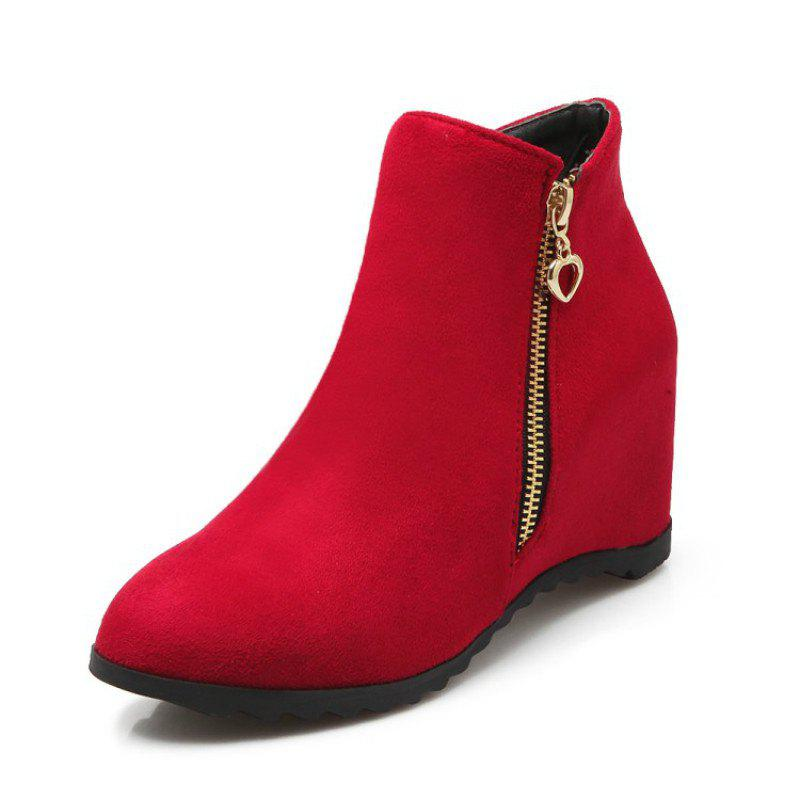 Store Women'S Boots Increased in Round Head