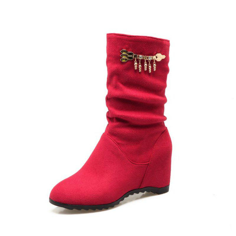 Trendy Fashionable Women'S Boots in Round Head