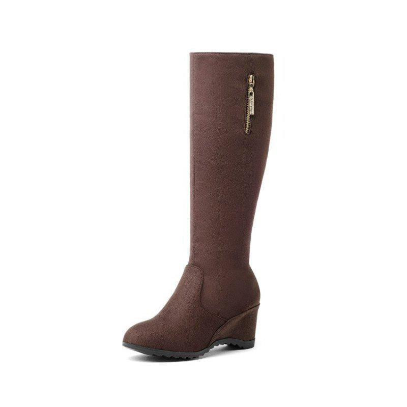 Best Round Headed Slope with Fashionable Ladies Boots