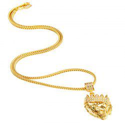 Men's Hip Hop Style Crown Style Necklace Sweater Chain -