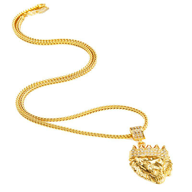 Online Men's Hip Hop Style Crown Style Necklace Sweater Chain