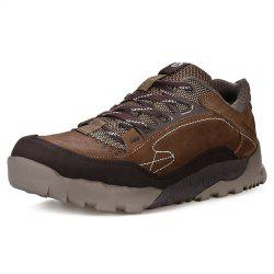 HUMTTO Hiking Shoes Men Outdoor Tourism Climbing Leather Lace-Up Sneaker -