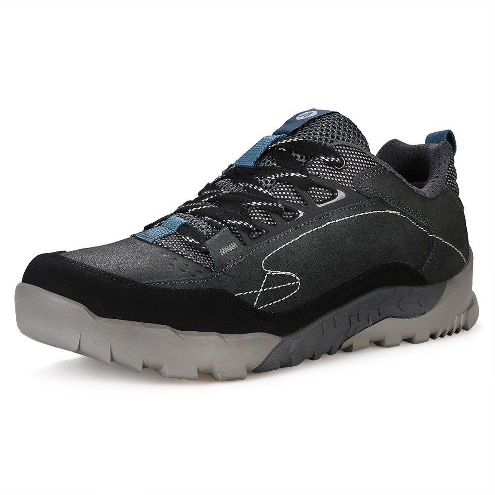 Cheap HUMTTO Hiking Shoes Men Outdoor Tourism Climbing Leather Lace-Up Sneaker