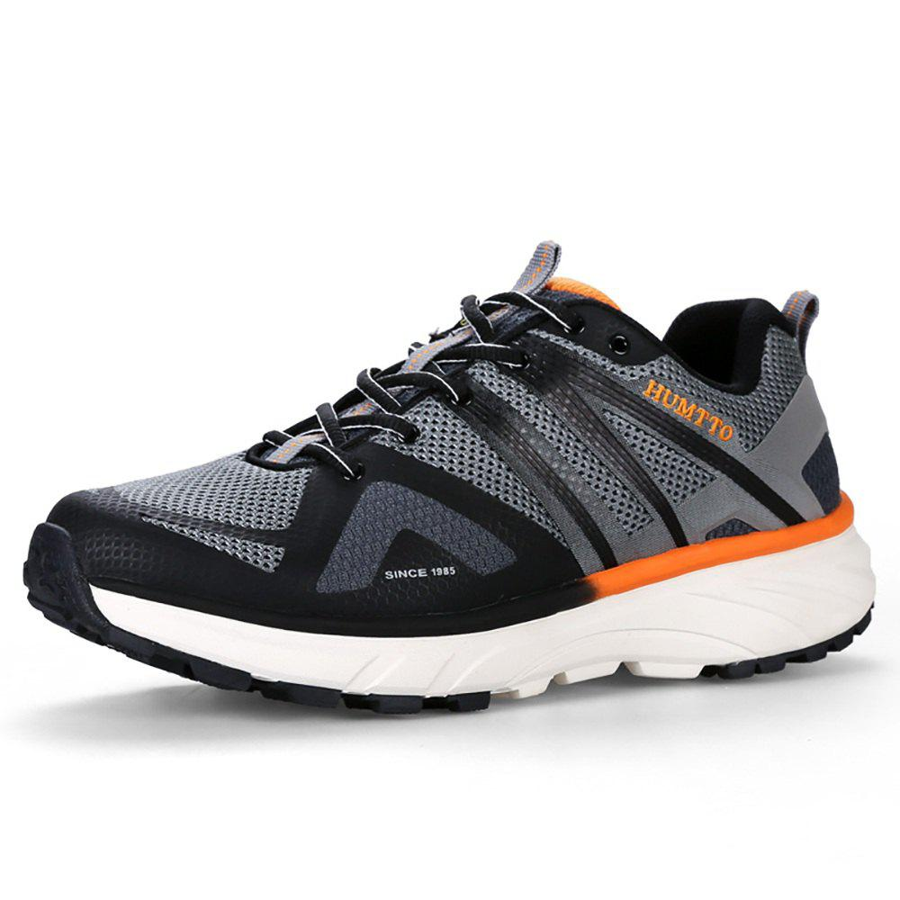 Affordable HUMTTO Men's Trail Running Shoes PU Fabric Height Increase Lace-up Jogging