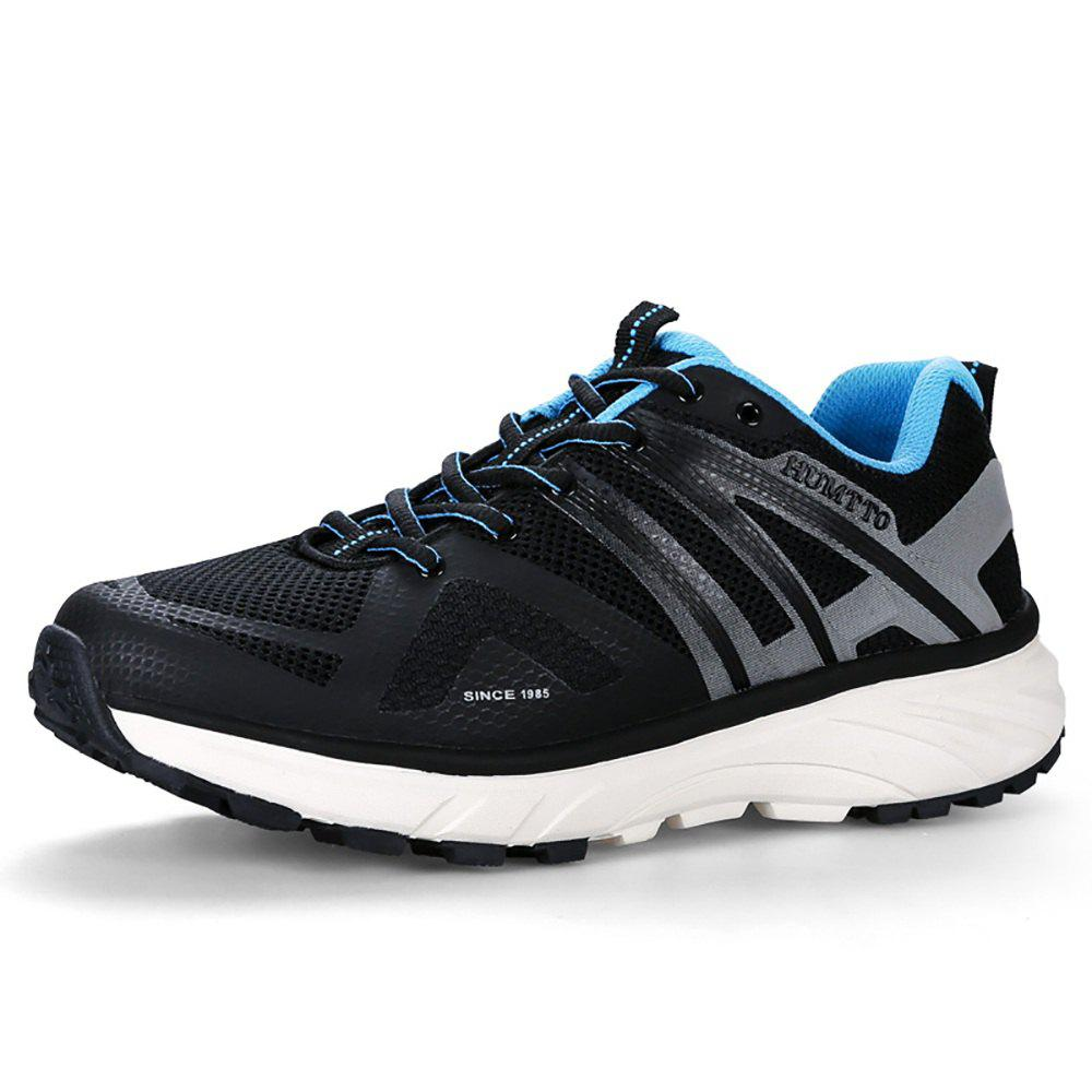 Hot HUMTTO Men's Trail Running Shoes PU Fabric Height Increase Lace-up Jogging