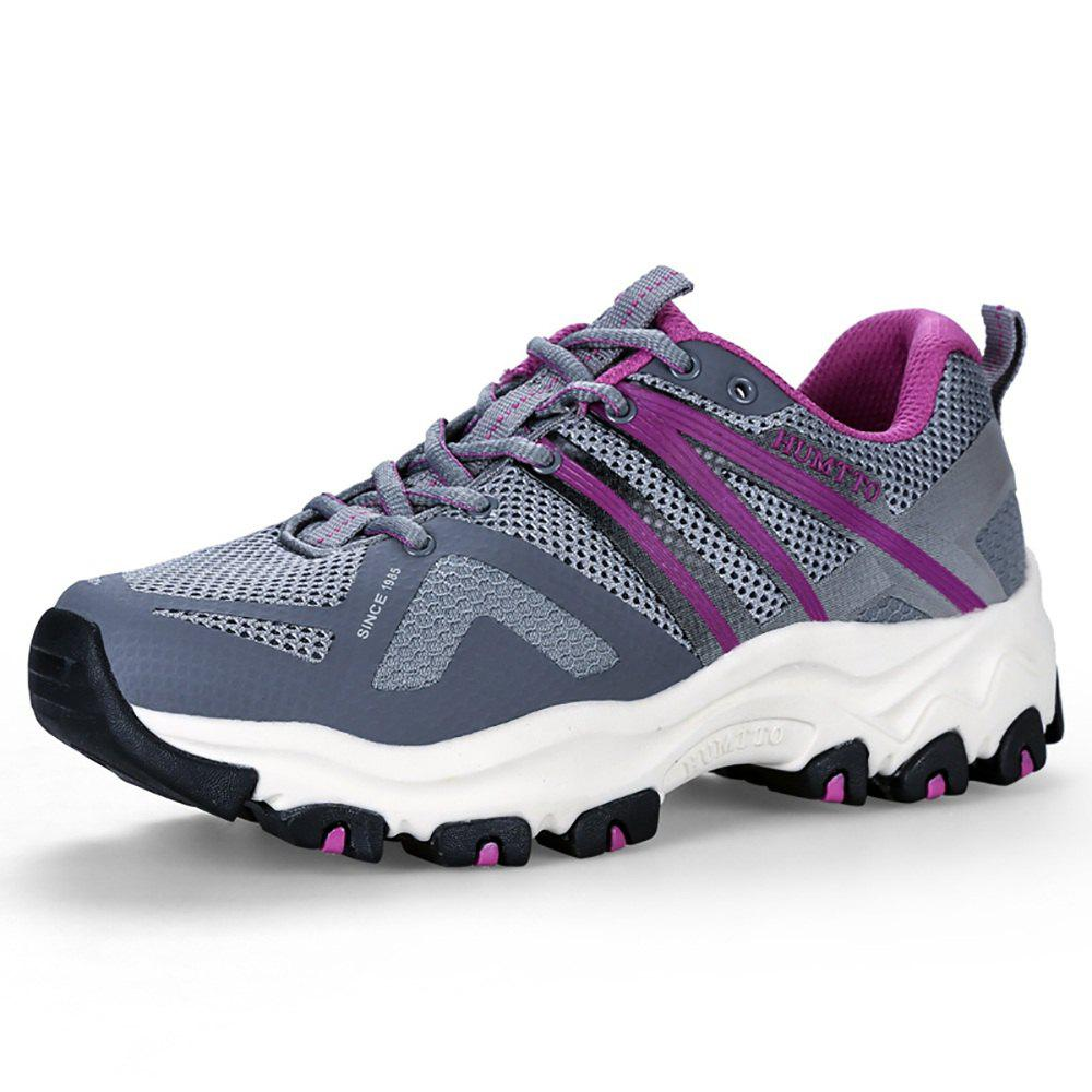Trendy HUMTTO Women's Trail Running Shoes PU Fabric Height Increase Lace-up Jogging