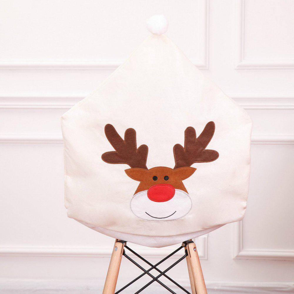 Outfit Christmas Table Decorations Non-woven Elk Embroidery Chair Cover