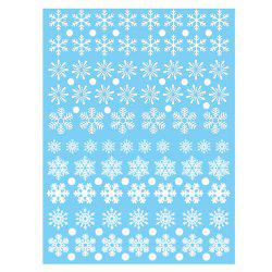 Christmas Snowflake Window Clings Decorations -
