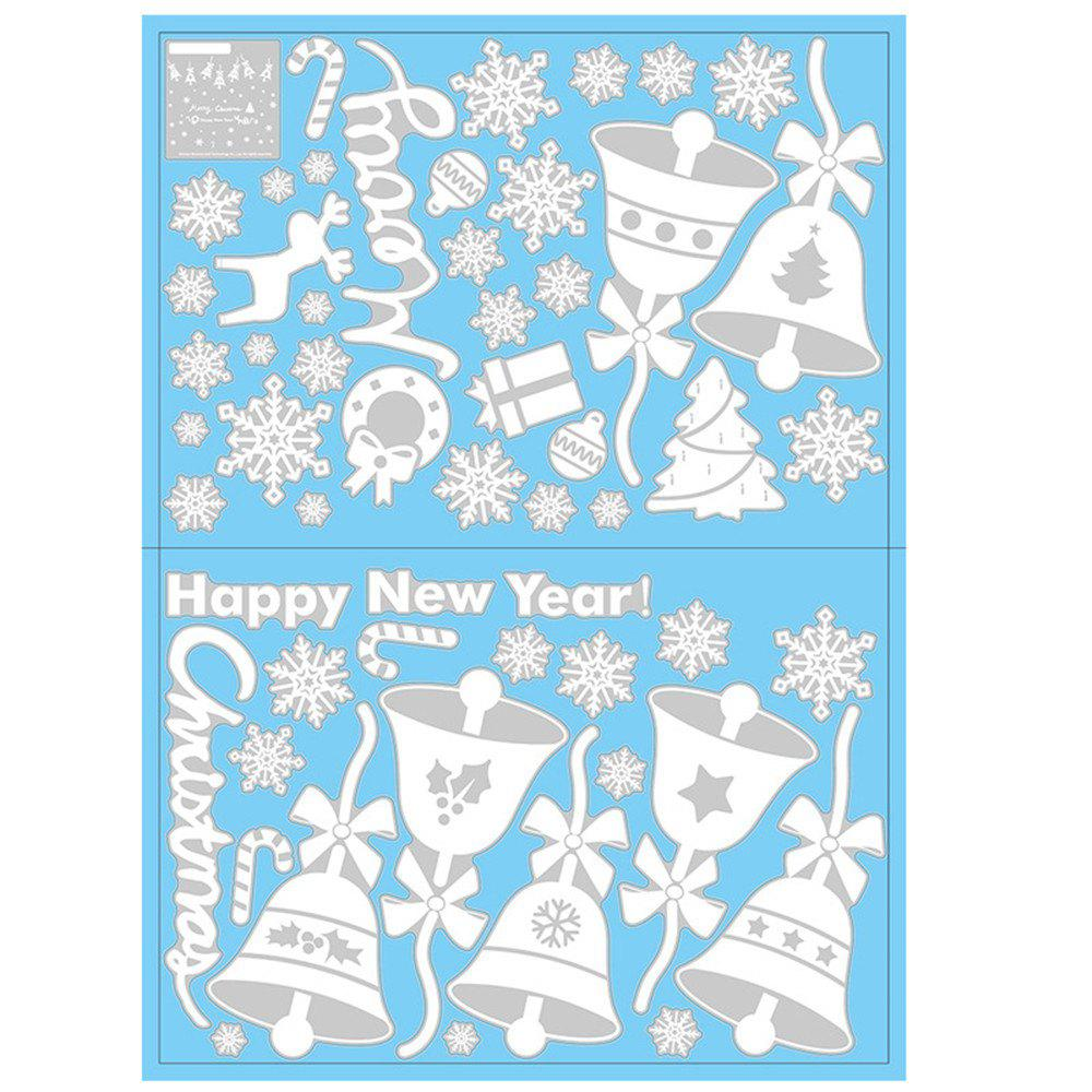 Fancy Christmas Snowflake Window Clings Decorations