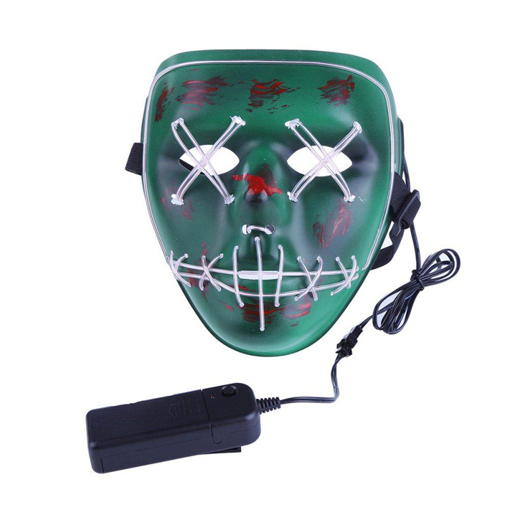Sale Frightening Wire Halloween  LED Light up Mask for Festival Parties