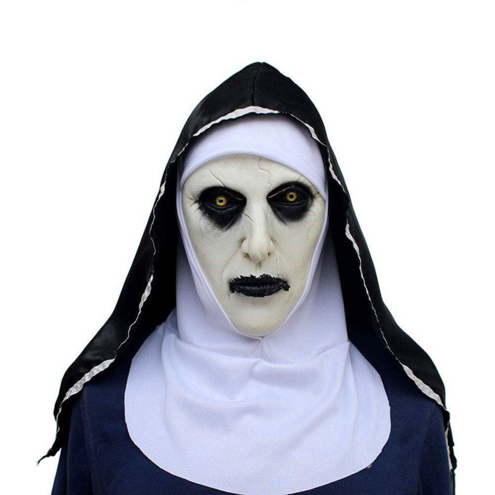 Fancy Mask Devil Nun Horror Masks with Wimple Costume for Party