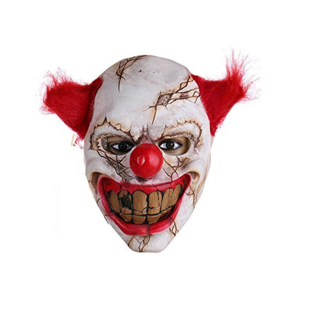 Discount New Horror Adult Holloween Latex Clown Mask with Red Hair Killer Party