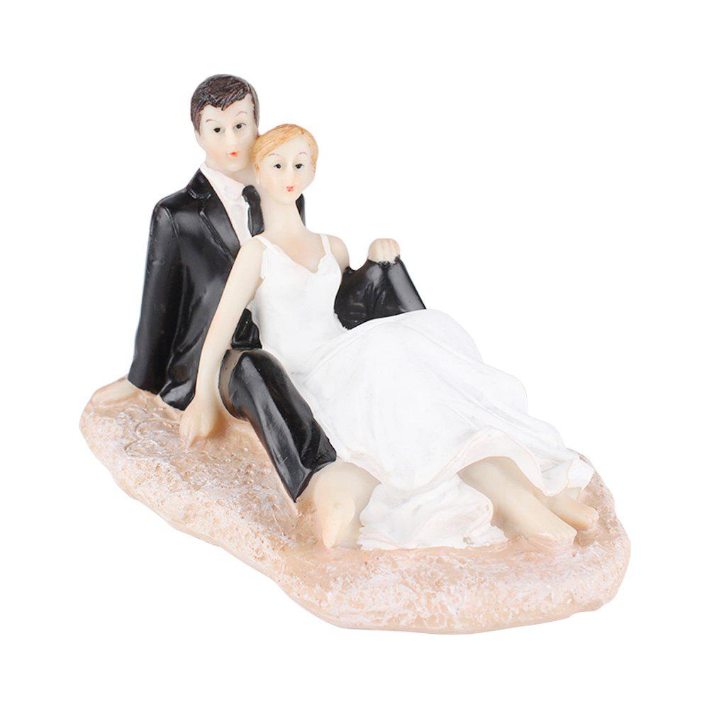 Latest Beach The Bride The Bridegroom Cake Topper Ornaments Decoration