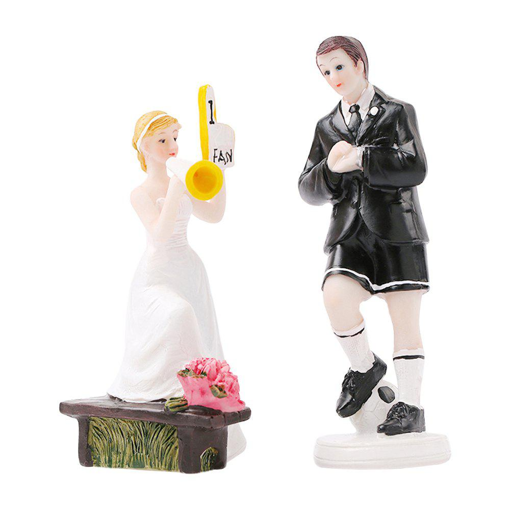 Shop Play Football The Bride The Groom Cake Topper Ornaments Decoration