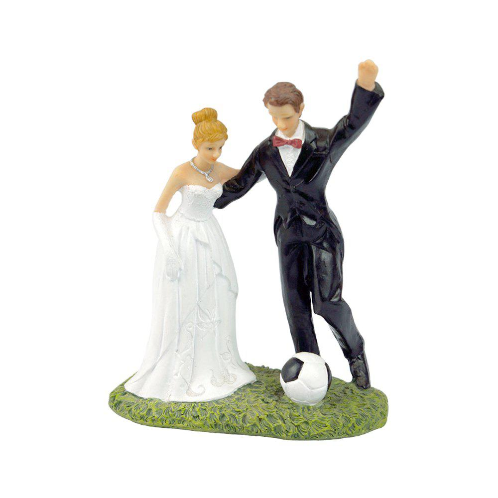 Shops Play Football The Bride The Groom Cake Topper Ornaments Decoration