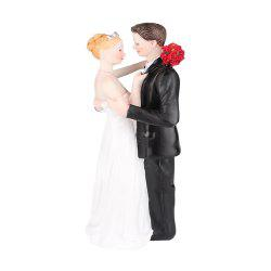 Romantic Rose The Bride The Groom Cake Topper Ornaments Decoration -